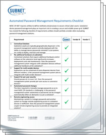 Automated Password Management Requirements Checklist