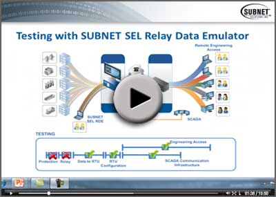 SUBNET SEL Relay Data Emulator Video
